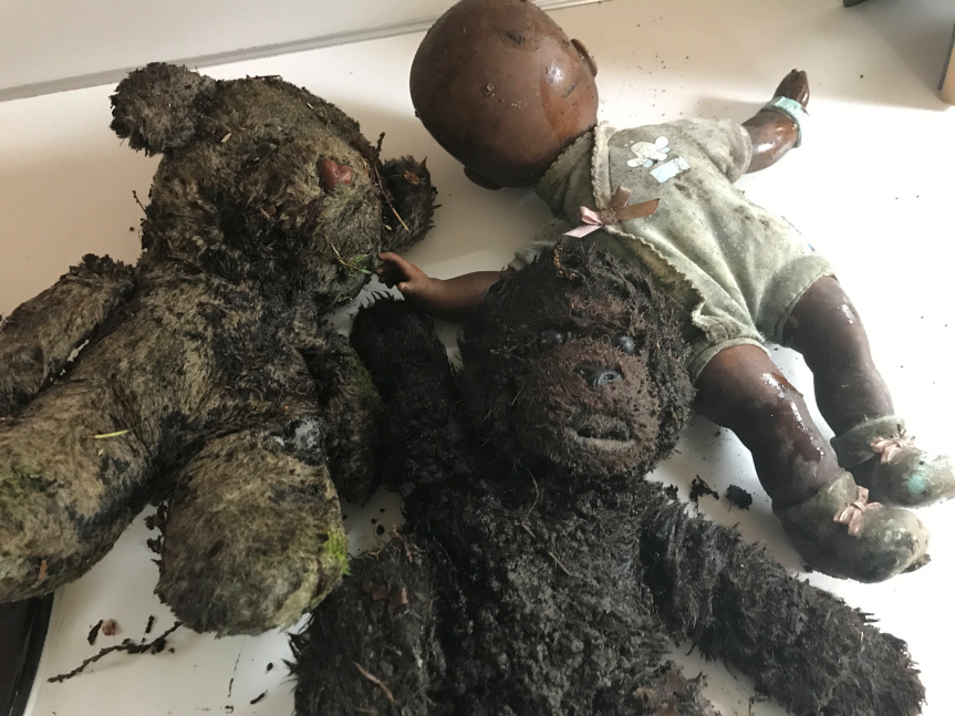 charred toys