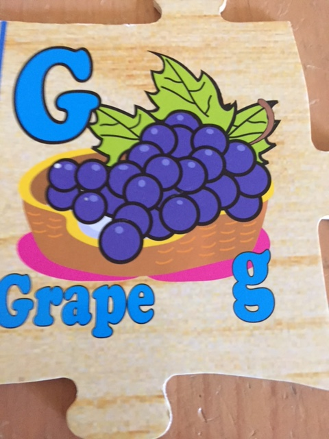 g is for grape