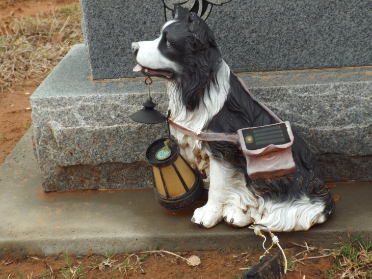 headstone dog
