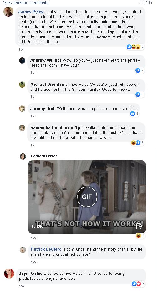 gates comments tantrum